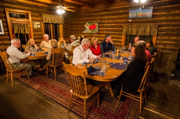 Family style, fine dining in our historic lodge.